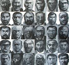 Oeuvre 108 brigands de Yan Pei-Ming