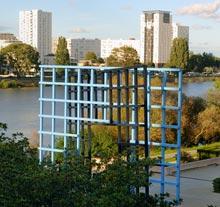 Oeuvre Portail 0°-90°,<br/> portail 8°-98° de François Morellet